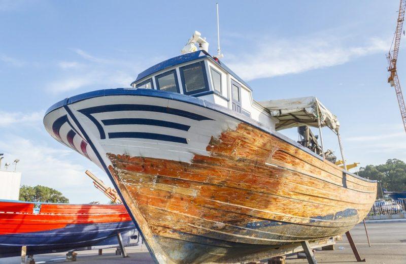 réparation du gelcoat d'un bateau
